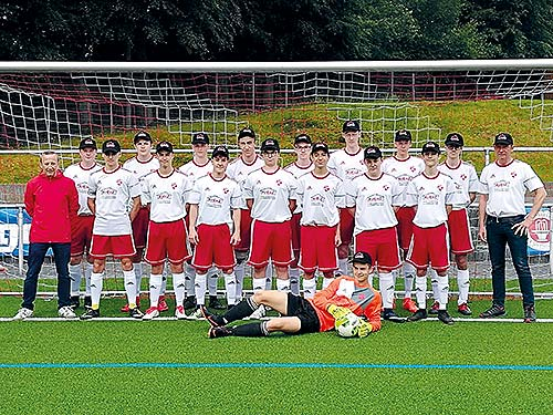 wholesale dealer 5b3a0 1cbfa Fußballmannschaft mit neuen Trikots